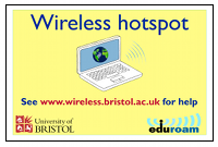 Wireless hotspot poster